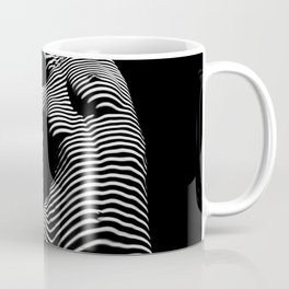 0077s-DJA Abstract Photograph of Seated Woman Striped by Light and Shade Coffee Mug