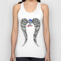 sonic Tank Tops featuring Sonic Angel by Hollie B