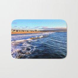 "Hermosa Beach ""On the Pier 2"" Bath Mat"