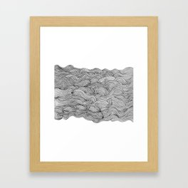get lost in the wave Framed Art Print