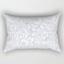 Fly EYES - Patterns BLUE - flowers, floral Rectangular Pillow