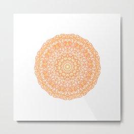 Mandala 13 / 1 orange Carnelian Metal Print