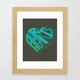 Our Hearts Are Wrong Framed Art Print