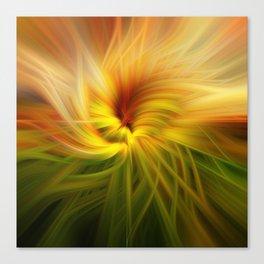 Sunflowers Twirled Canvas Print