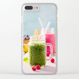 fresh smoothie with fruits and berries Clear iPhone Case
