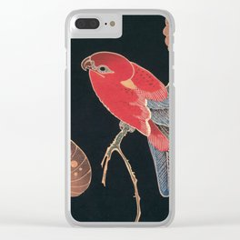Red Parrot on the Branch of a Tree by Ito Jakuchu, 1900 Clear iPhone Case