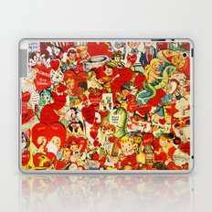 Vintage Valentine Cards - Love, Humor, Funny, Mermaids, Seahorse, Red Hearts,Couples, Reto Inspired Laptop & iPad Skin