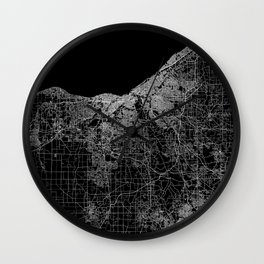 Cleveland map Ohio Wall Clock