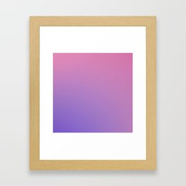 TAINTED CANDY - Minimal Plain Soft Mood Color Blend Prints Framed Art Print