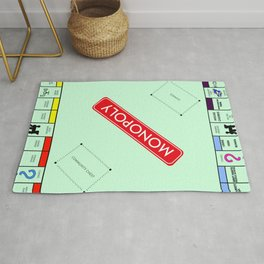Monopoly Print Currency Game Rug