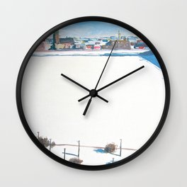 Frozen Rīga II Wall Clock