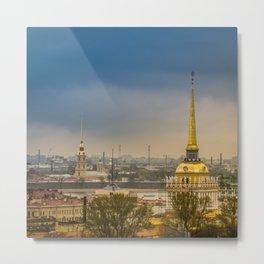 Saint Petersburg Admiralty Metal Print