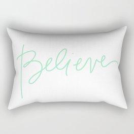 Believe Rectangular Pillow