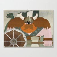 viking Canvas Prints featuring VIKING by danvinci