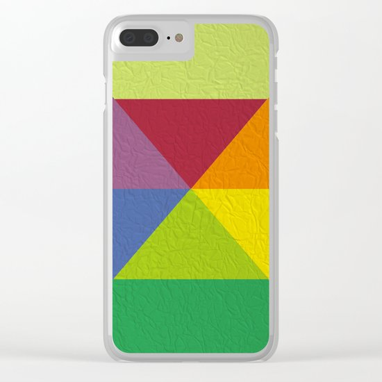 Abstract #241 Clear iPhone Case