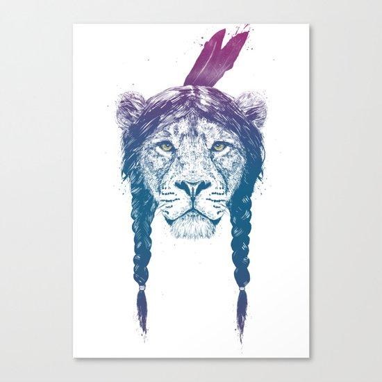 Warrior lion II Canvas Print