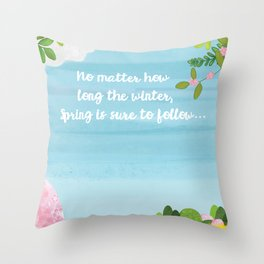 Time for Spring Throw Pillow