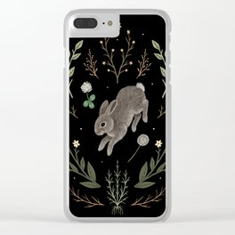Hoppy Botanical Bunny Clear iPhone Case