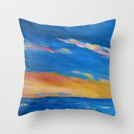 Streaks of Color Throw Pillow