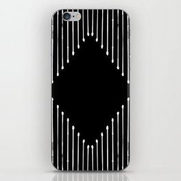 Geo / Black iPhone Skin