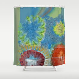 Phallisms Essence Flower  ID:16165-054217-01921 Shower Curtain