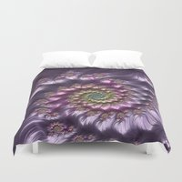 wine Duvet Covers featuring Lilac Wine by Steve Purnell