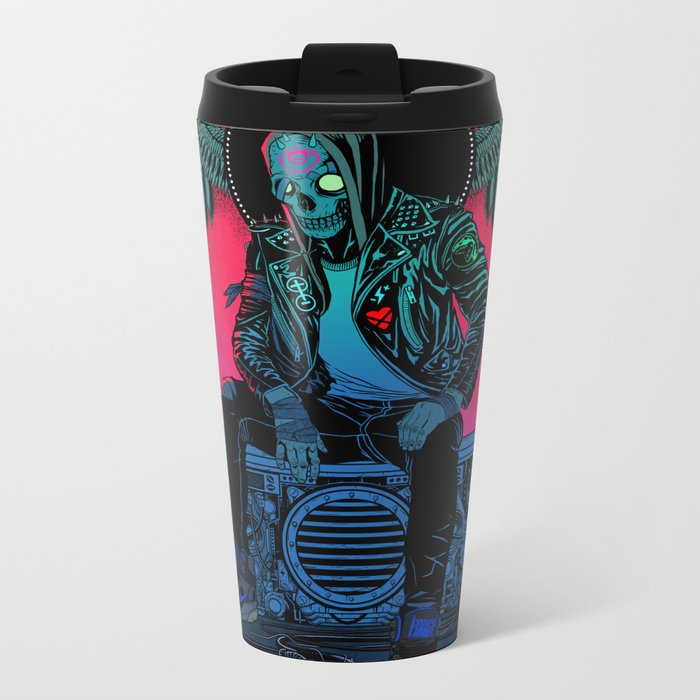 The Ghost of Dead Motor City Metal Travel Mug