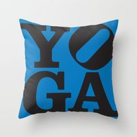 yoga Throw Pillows featuring YoGA by CGould