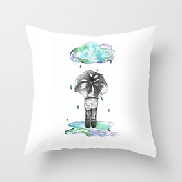 It's the Rain Throw Pillow
