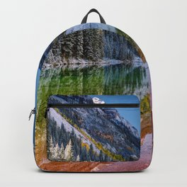 OLena Art Maroon Bells And Maroon Lake Near Aspen Colordo Backpack
