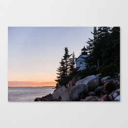 bass harbor head lighthouse, acadia national park Canvas Print