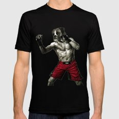 Boxer. The boxer fighter. Mens Fitted Tee Black SMALL