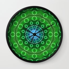 Cell Growth Mandala Wall Clock