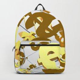 Golden dollar sign Backpack