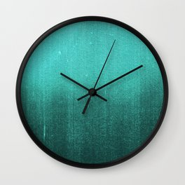 BLUR / abyss / turquoise green Wall Clock
