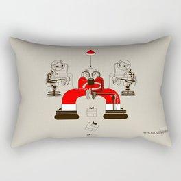 Who loves christmas? Rectangular Pillow