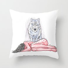 Wolf and I Throw Pillow