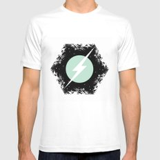BOLT THROUGH PORTAL. White Mens Fitted Tee SMALL