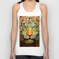 tiger Tank Tops featuring Tiger by nicebleed