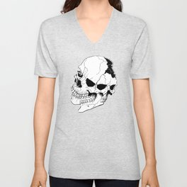 Skull (Fragmented and Conjoined) Unisex V-Neck