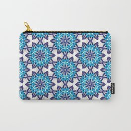 Beautiful Blue and Purple Beadwork Inspired Print Carry-All Pouch