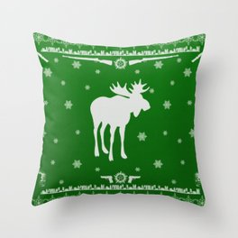 Supernatural Sam Holiday Sweater Throw Pillow