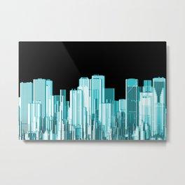 Hologram city panorama Metal Print
