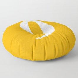 9 (WHITE & ORANGE NUMBERS) Floor Pillow
