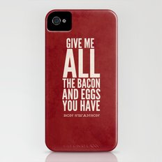 Bacon and Eggs - Ron Swanson - Parks and Recreation Slim Case iPhone (4, 4s)