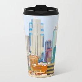 Downtown Kansas City Skyline Tilt Shift Photograph Travel Mug