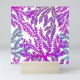 Violet sea corals. Mini Art Print