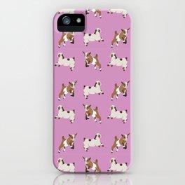 Baesic Prancing Goats iPhone Case