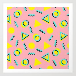 Memphis pattern 60 Art Print