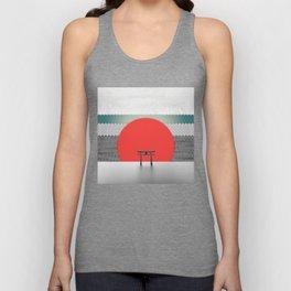 The Red Sun Unisex Tank Top